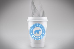packaging coffee blue polar